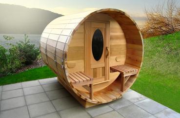 Sauna bulle ext rieur en bois de c dre annecy atelier nordic - Hammam exterieur bois ...
