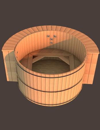 spa ext rieur en bois de c dre massif annecy. Black Bedroom Furniture Sets. Home Design Ideas