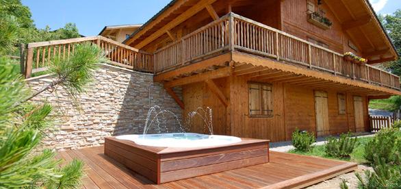 Vente spa sauna hammam et jacuzzi annecy haute savoie for Hammam exterieur