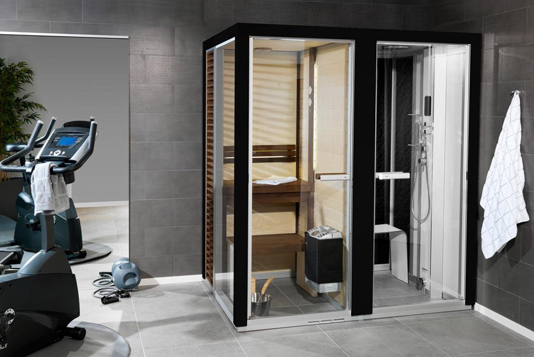 3 en 1 combin sauna hammam douche - Combine sauna hammam ...