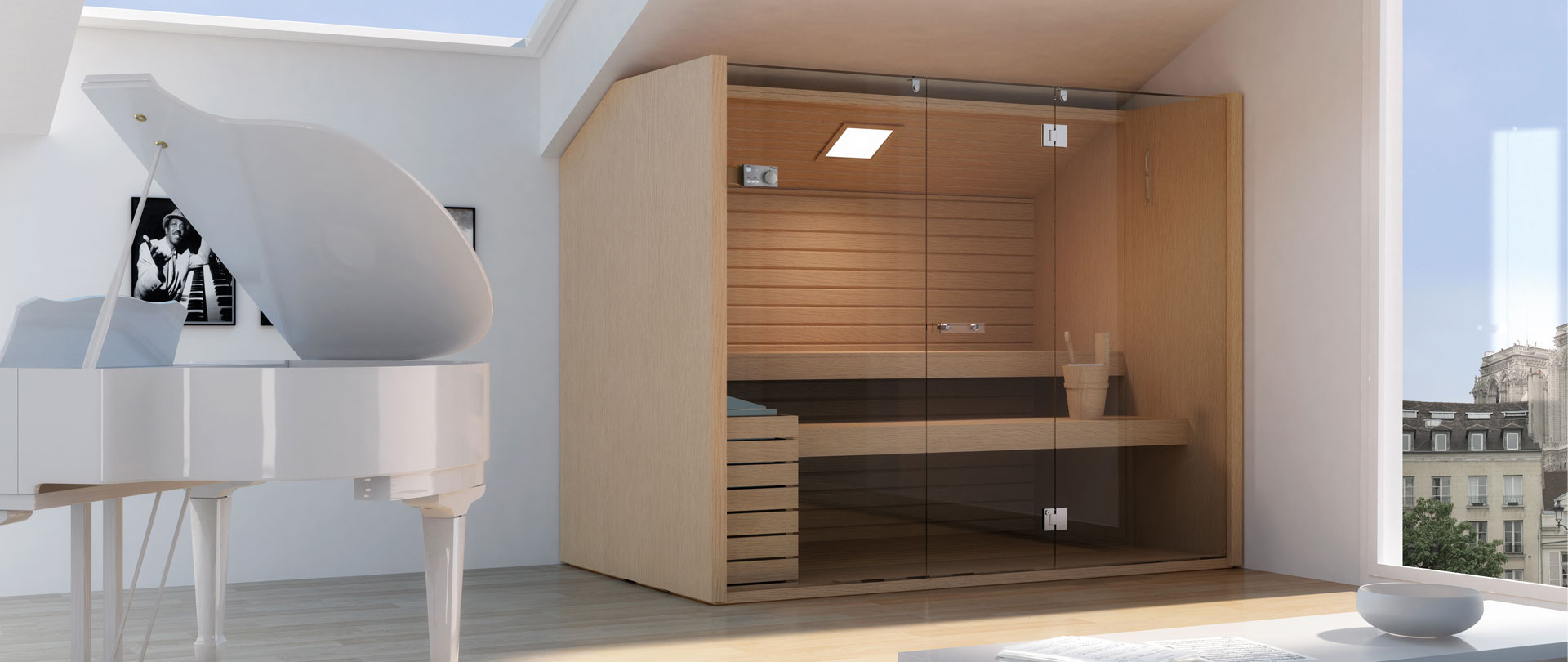 sauna int rieur en bois massif annecy atelier nordic. Black Bedroom Furniture Sets. Home Design Ideas