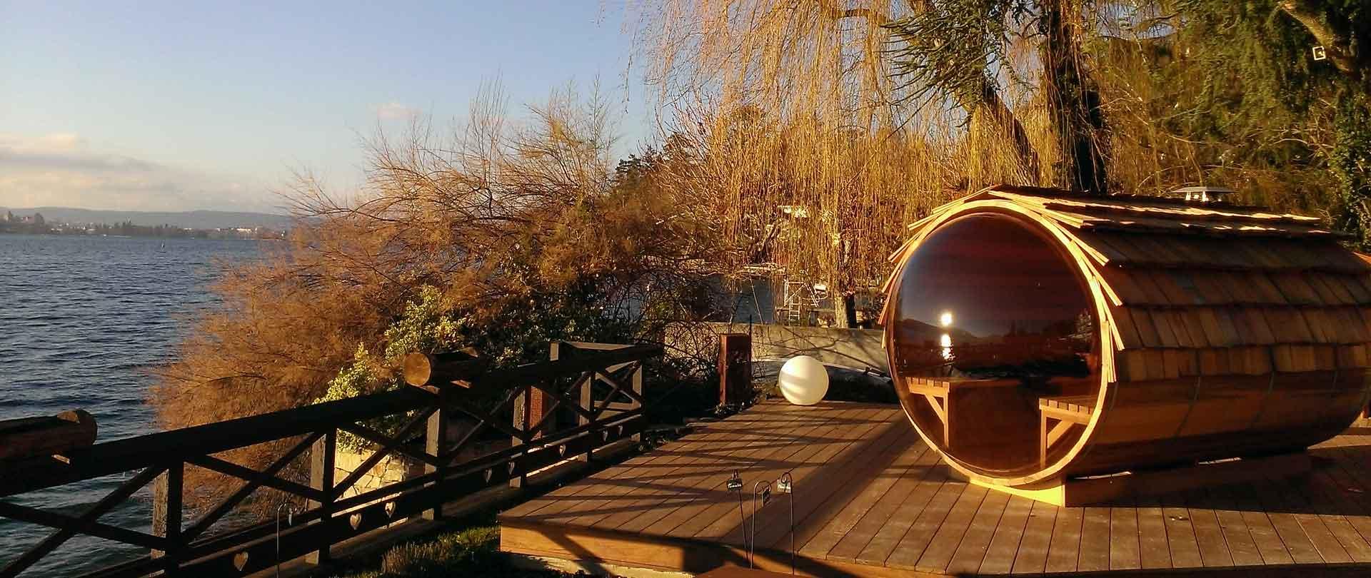 Sauna panoramique Annecy Cosmic