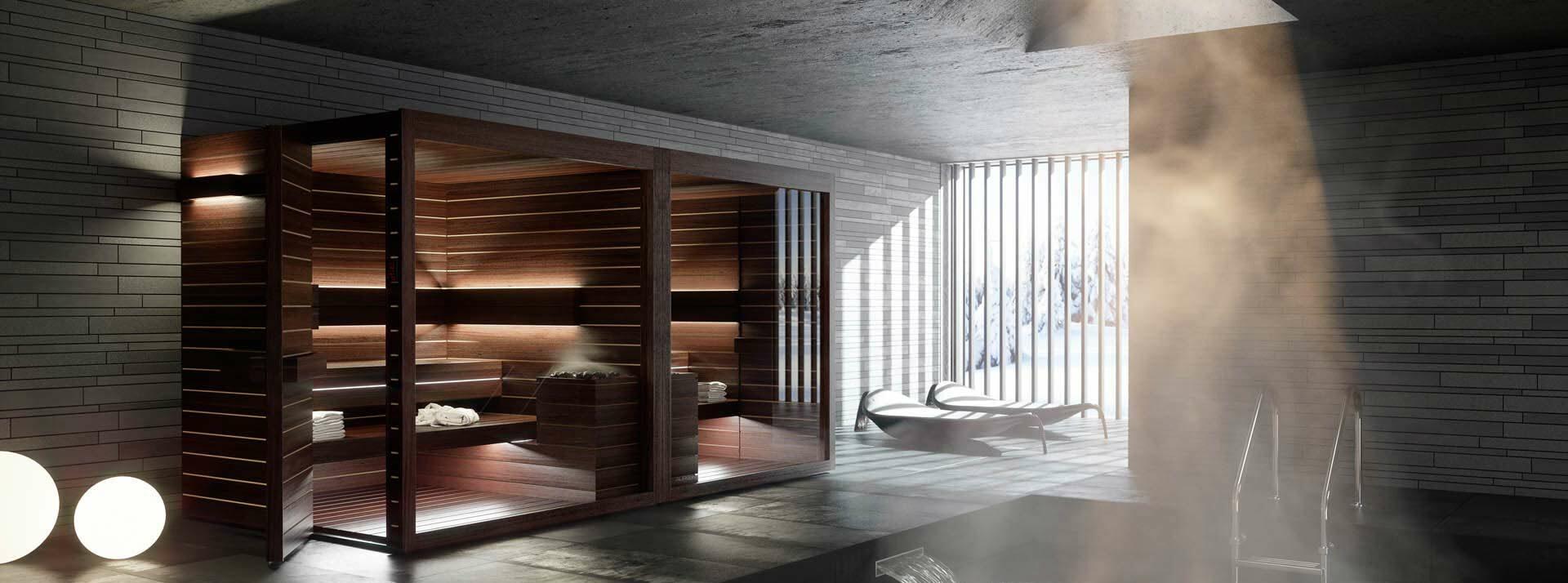 Sauna Interieur Bois Design Lumina Auroom