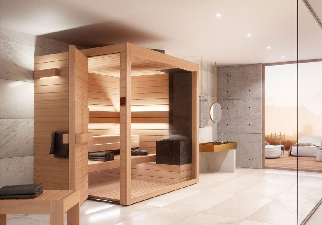 Achat Installation Sauna Design Bois Lumina Annecy