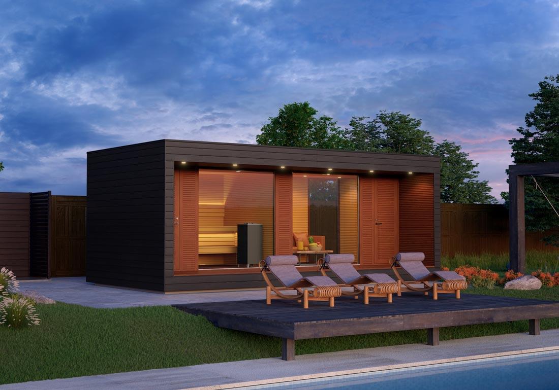 Installation Sauna Luxe Exterieur Bois Haute Savoie