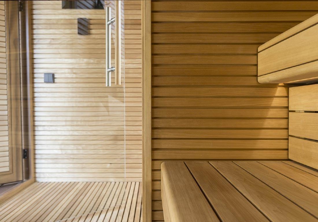 Installation Sauna Luxe Exterieur Bois Savoie