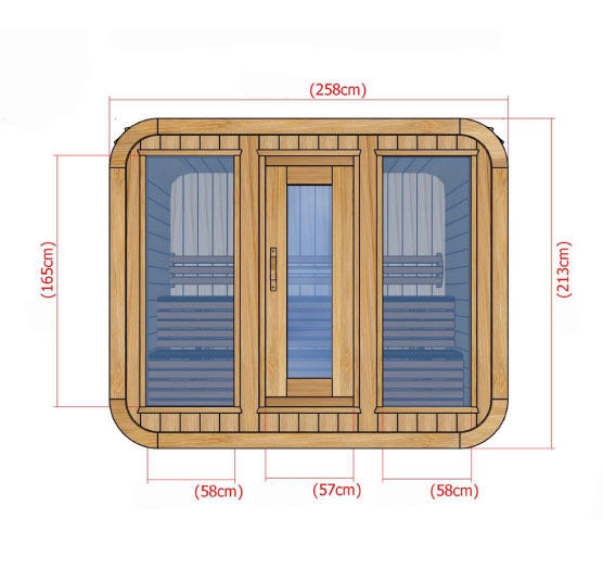 Plan Sauna Kubic 258x185