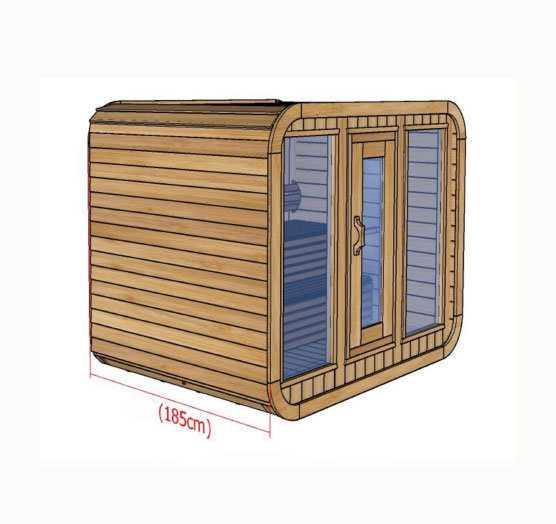 Plan Sauna Kubic Cote 258x185