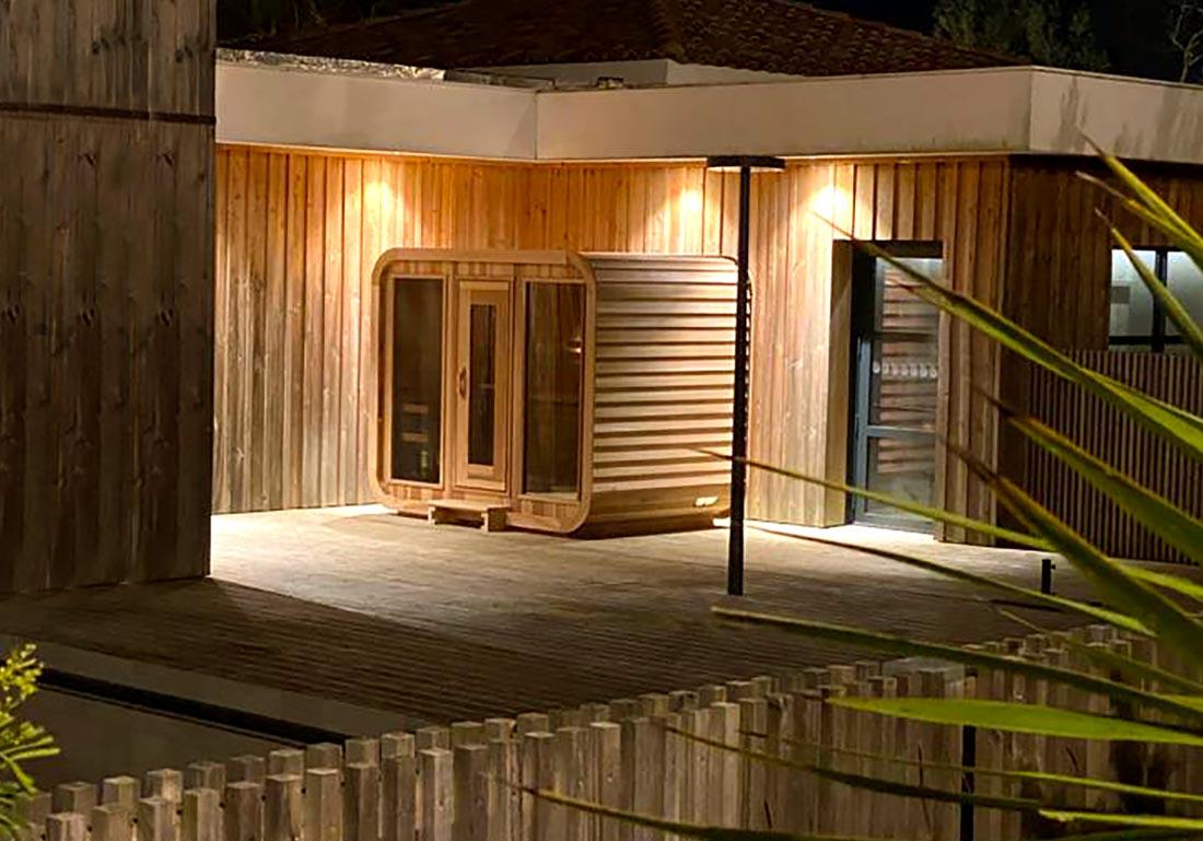Sauna Exterieur Bois Cube Savoie Ain