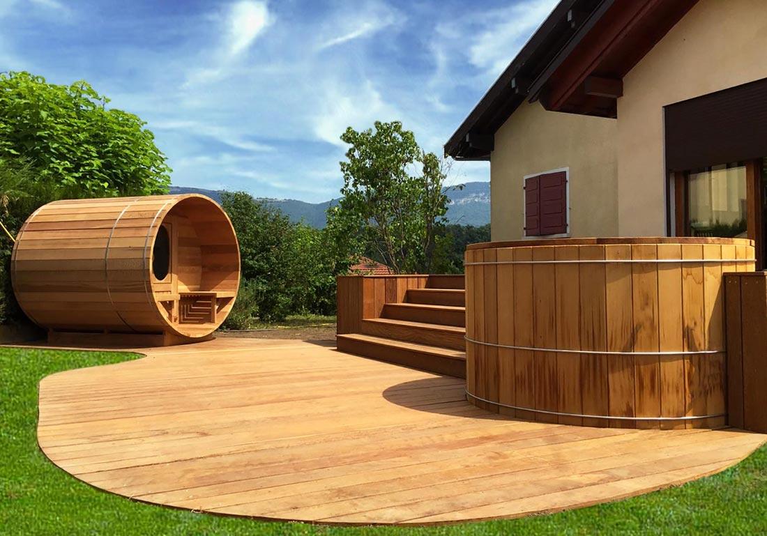 Acheter Sauna Exterieur Bois Lyon Ain Isere