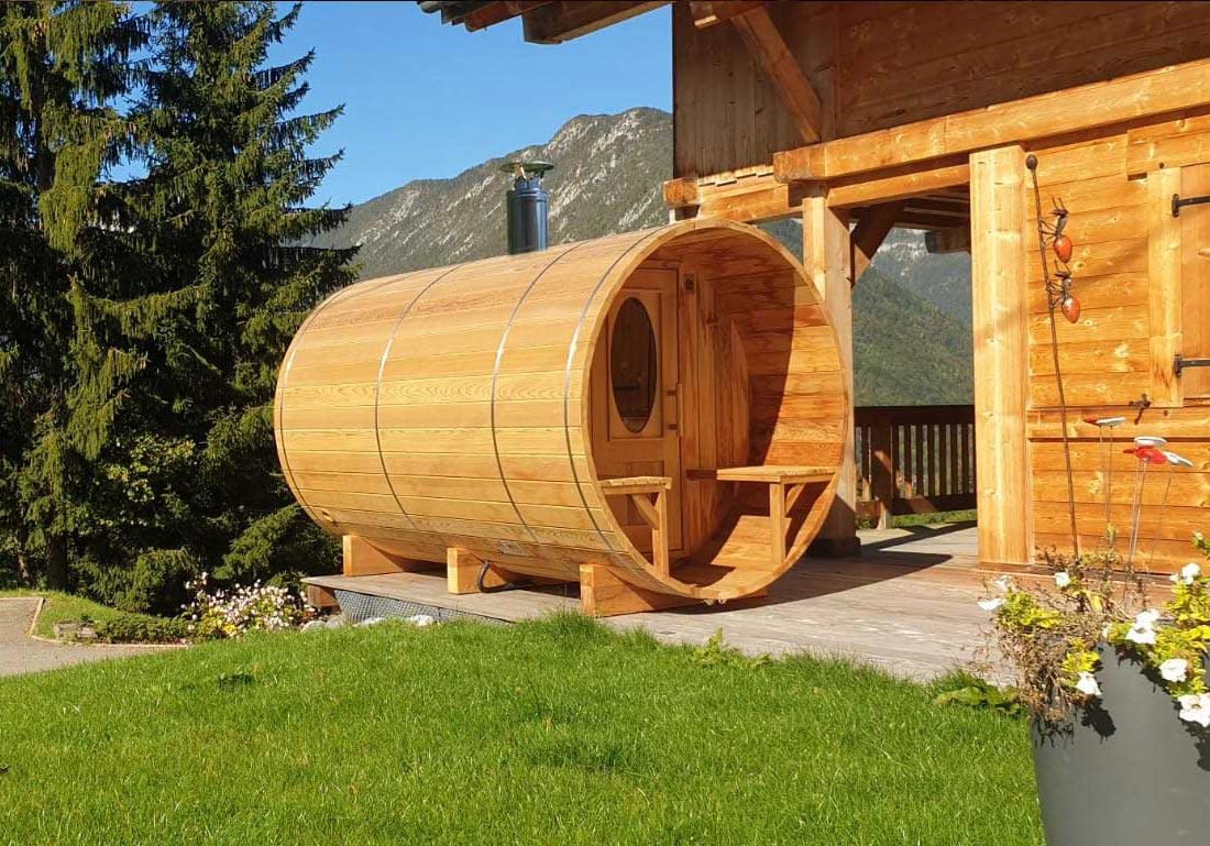 Sauna Exterieur Tonneau Bois Lyon Annecy