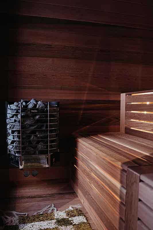 Sauna Cube Bois Traditionnel Exterieur